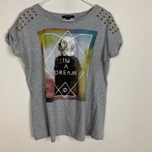 Lost in a Dream Gray Juniors T-shirt size Medium